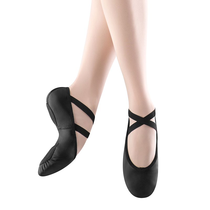 bloch prolite ii leather ballet slippers - black