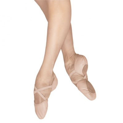 Bloch Elastosplit X Leather Ballet Slippers - Flesh