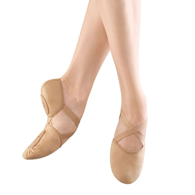 Bloch Elastosplit X Canvas Ballet Slippers - Flesh