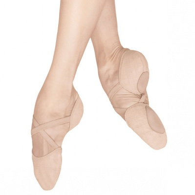 Bloch Elastosplit X Canvas Ballet Slippers - Pink