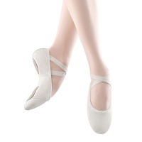 Bloch Prolite II Leather Ballet Slippers - White