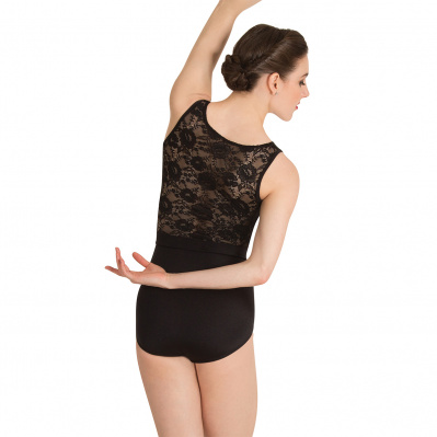 Body Wrappers Adult Lace-Back Tank Leotard