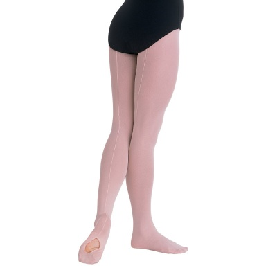 Body Wrappers Child's Back Seam Convertible Tights