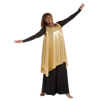 Body Wrappers Drapey Tunics Metallic Tank Pullover