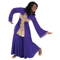Body Wrappers Praise Dance Cross Pullover