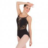 Body Wrappers Adult Romantic Lace Camisole Leotard
