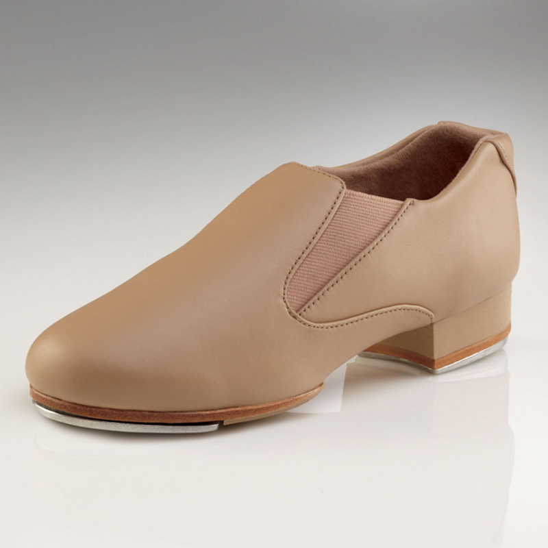 capezio riff slip on tap shoes caramel
