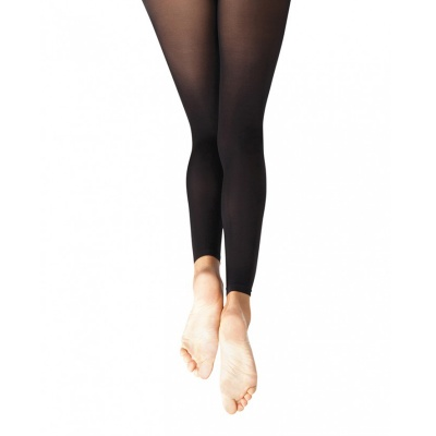 Capezio Ultra Soft Self Knit Waistband Girl's Footless Tights