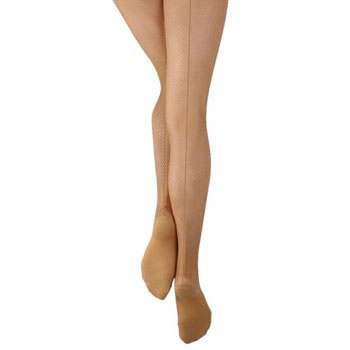 Capezio Studio Basics Girls Fishnet Tights w/Seams