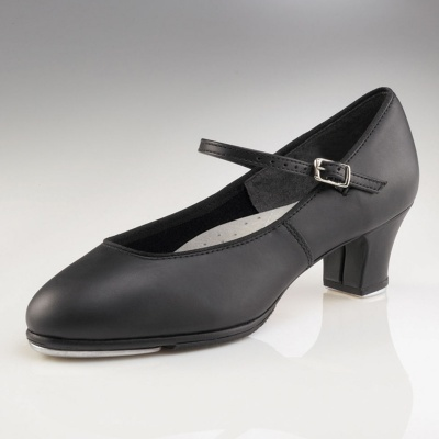 Capezio Jr. Footlight Tap Shoes - Black