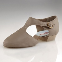 Capezio Pedini Adult Lyrical Shoes - Tan