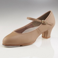 Capezio Jr. Footlight Tap Shoes - Caramel