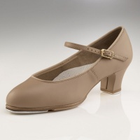 Capezio Jr. Footlight Tap Shoes - Tan