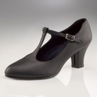 Capezio Jr. Footlight T-Strap Character Shoes - Black