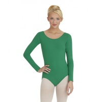 Capezio Adult Long-Sleeve Leotard - Kelly Green