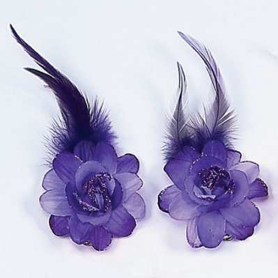 Dasha Flower Pair With Glitter
