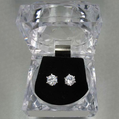 Dasha Large CZ Post Earrings