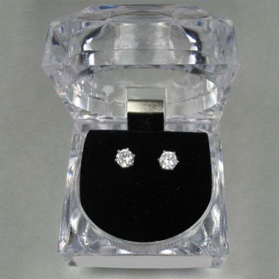Dasha Small CZ Post Earrings