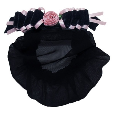 Dasha Velvet Ribbon Satin Rose Snood