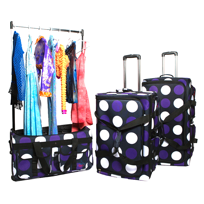 violet polka dots rac n roll purple polka dot dance bag large