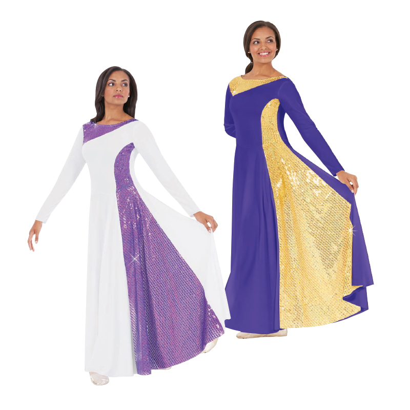 Eurotard Diamond Glory Praise Dress - Discount Liturgical Dresses And Skirts From Body Wrappers