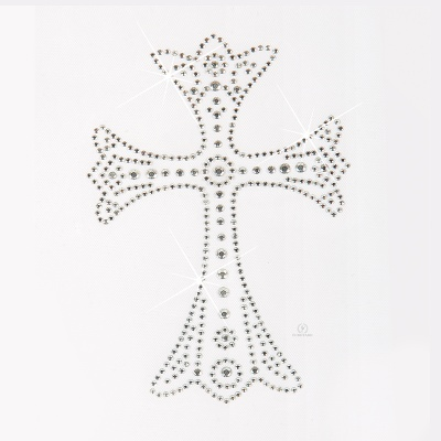 Eurotard Iron-On Rhinestone Cross Applique