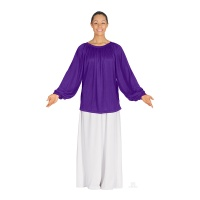 Eurotard Unisex Polyester Long Sleeve Peasant Style Top