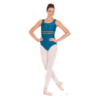 Eurotard Adult Striped Mesh Tank Leotard