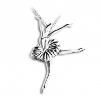 Mikelart Sterling Silver Necklace With Swan Lake Pendant