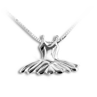 Mikelart Sterling Silver Necklace With Tutu Pendant