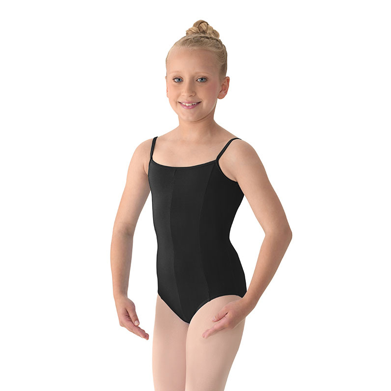 6537e20ce Mirella Girl s Seamed Camisole Leotard - Black