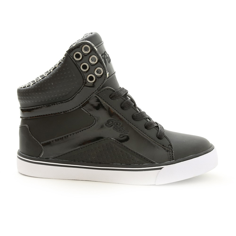 Pastry Pop Tart Grid Adult Dance Sneakers Black And White