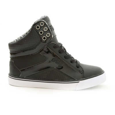 Pastry Pop Tart Grid Adult Dance Sneakers - Black and White
