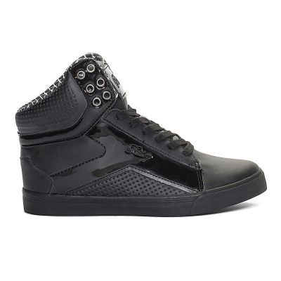 Pastry Pop Tart Grid Adult Dance Sneakers - Black