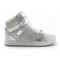 Pastry Glam Pie Glitter Adult Dance Sneakers - Silver