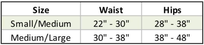 Russian Pointe Trash Bag Sizing Chart
