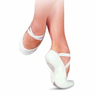 Sansha Pro 1C Canvas Split Sole Ballet Shoes - White
