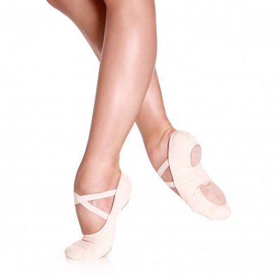 So Danca Bliss Child's Stretch Canvas Ballet Slippers - White
