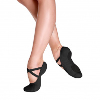So Danca Bliss Adult Stretch Canvas Ballet Slippers - Black