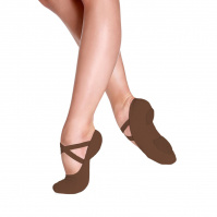 So Danca Bliss Adult Stretch Canvas Ballet Slippers - Mocha