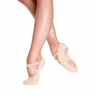 So Danca Bliss Adult Stretch Canvas Ballet Slippers - Nude