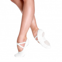So Danca Bliss Adult Stretch Canvas Ballet Slippers - White
