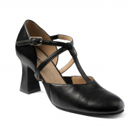 So Danca Lola 2.5 Heel T-Strap Character Shoes - Black