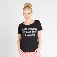 Sugar and Bruno Adult Proud Supporter Upscale Tee