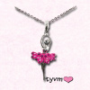 TYVM Ballerina Necklace With Crystals 1
